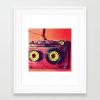 cassette Framed Art Prints featuring Cassette by The 80s