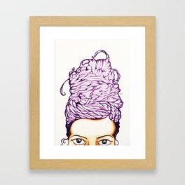 Hair do Framed Art Print