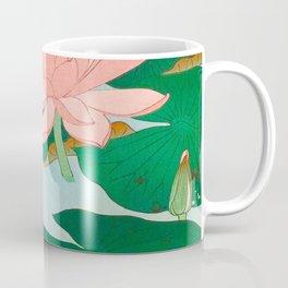 Ohara Koson Water Lilies 1920 Japanese Woodblock Print Vintage Historical Japanese Art Coffee Mug