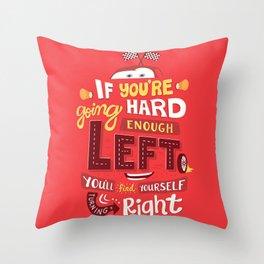 Go Hard Enough Left Throw Pillow