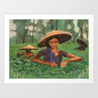 vietnam Art Prints featuring Vietnam  by JenD.esigns
