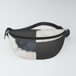 Cow Print & Leather Collage Fanny Pack