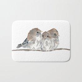 Cuddling birds Bath Mat