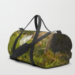 Micro World, Sleep of Little Maiden, flower in moss Duffle Bag