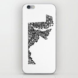 Typographic Maryland iPhone Skin