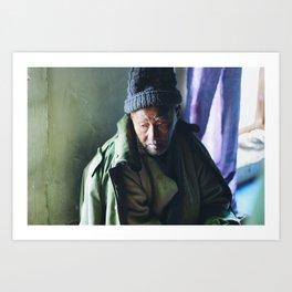 Elder (Sham, Ladakh, India) Art Print