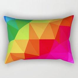 Rainbow Low Poly Rectangular Pillow