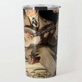 Banjo Player; Vintage Men's Fashion Poster Travel Mug