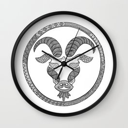 Zodiac Sign Capricorn Wall Clock