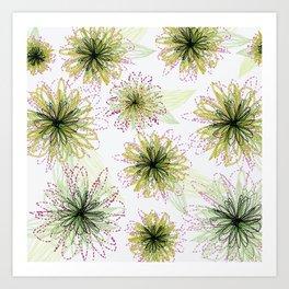 Zipper Blooms Art Print