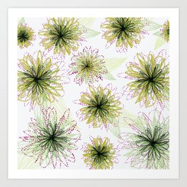 Zipper Blooms Art Print