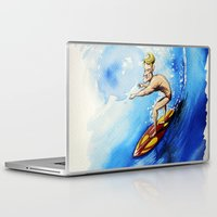 surfer Laptop & iPad Skins featuring Surfer by Jose Luis Ocana