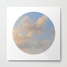 Painterly Clouds Metal Print