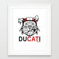 ducati Framed Art Prints featuring duCATi by Tomasz Stasiak