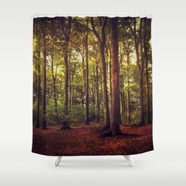 october forest II Shower Curtain