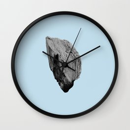 Blue Boulder Wall Clock