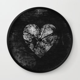 Love is not Always Black And White Wall Clock