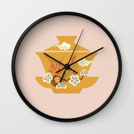 Chinese Antique - Tea Cup Wall Clock