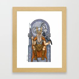 Odin, Norse God Framed Art Print