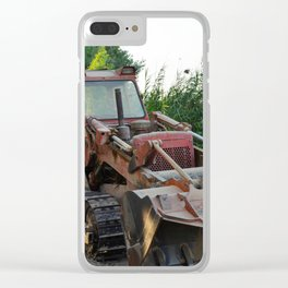 Rusted wreck bulldozer Clear iPhone Case