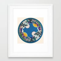 mandala Framed Art Prints featuring Mandala by Abundance