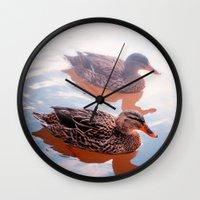 duck Wall Clocks featuring Duck by DistinctyDesign