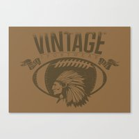 sports Canvas Prints featuring Vintage sports by Tshirt-Factory