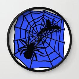 Confrontation. Blue Wall Clock