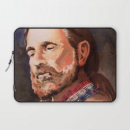 Willie Nelson Acrylic Painting Laptop Sleeve