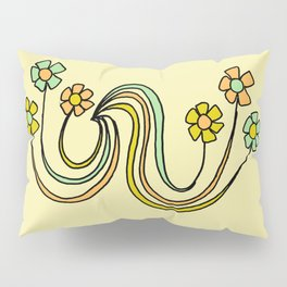 bloom where you are planted // waves and flowers Pillow Sham