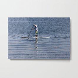 Man on Paddleboard Metal Print