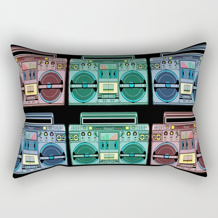 """I CAN'T LIVE WITHOUT MY RADIO"" Rectangular Pillow"