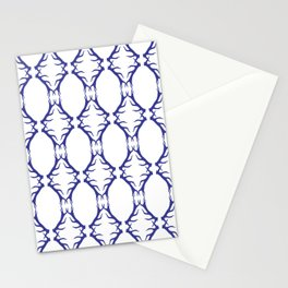 Modern Antler:  Blue Stationery Cards