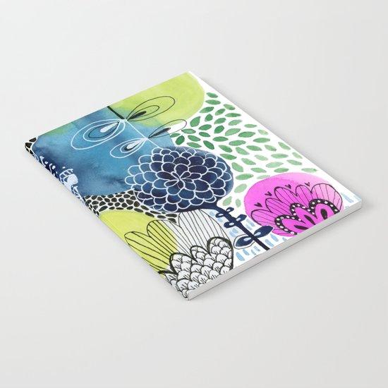 Indigo Blooms Notebook