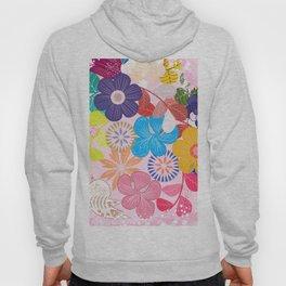 Shabby Chic Romantic Floral Hoody
