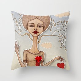 Goodbye love Throw Pillow