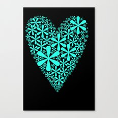 asterisk heart Canvas Print