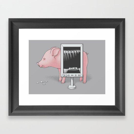 Saving money Framed Art Print