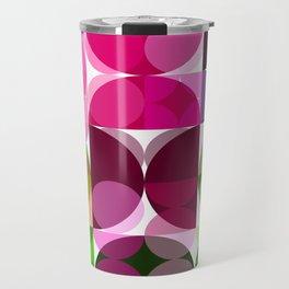 Rosas Moradas 1 Abstract Circles 3 Travel Mug