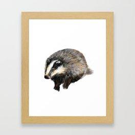 Billy Badger Framed Art Print
