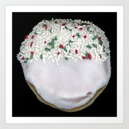 White Sprinkles Donut Art Print