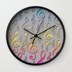 Singing under the Rainbow Wall Clock