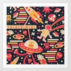 Alien Patterns Art Print