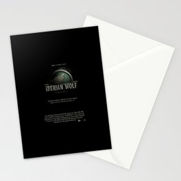 iberian wolf Stationery Cards