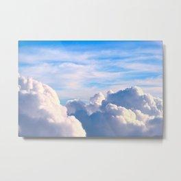 Clouds of Cream Metal Print