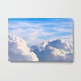 Clouds of Cream Metal Print