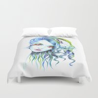 water color Duvet Covers featuring Water by eDrawings38