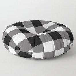 Black & White Buffalo Plaid Floor Pillow