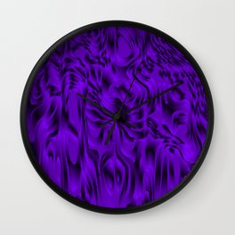 Blurry interweaving of violet spots from the bright flowing lava and colored symmetrical blots. Wall Clock