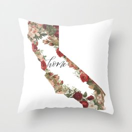 California Floral - Home Throw Pillow